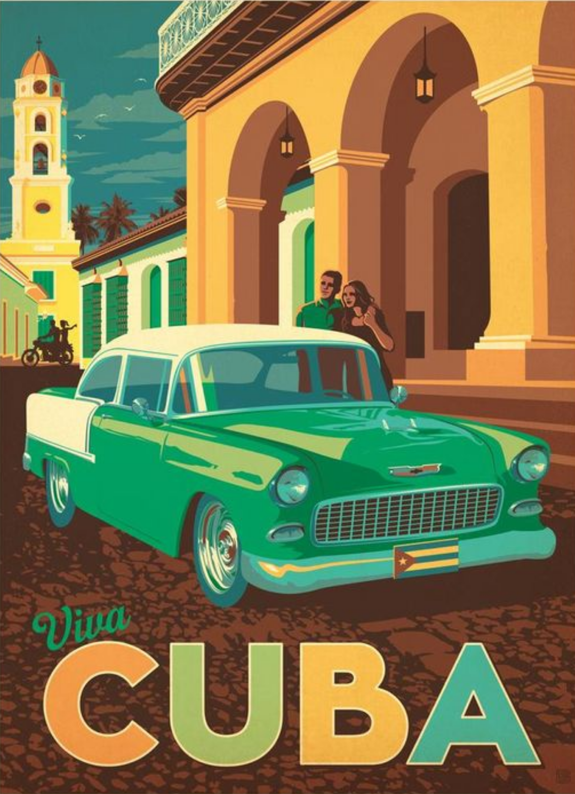 viva cuba anderson design group with images retro travel poster vintage travel posters travel prints pinterest