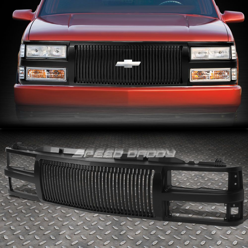 Front Bumper Black Verticle Grille Guard For 94 00 Chevy C10 C K Tahoe Blazer Speeddaddy Verticalfencestyle Chevy C10 Chevy Chevy S10