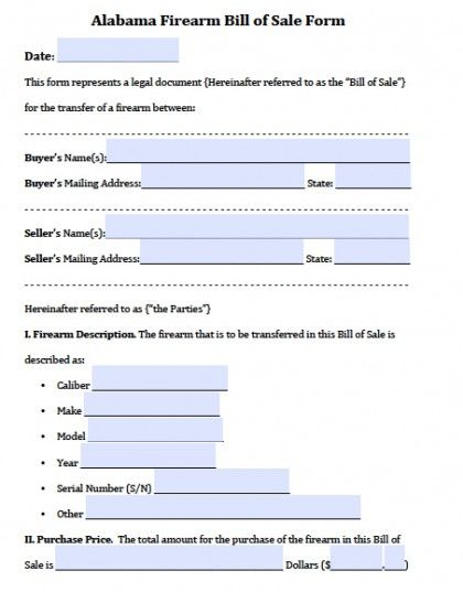 Printable Sample Bill Of Sale Alabama Form Real Estate Forms - Boat Bill Of Sale