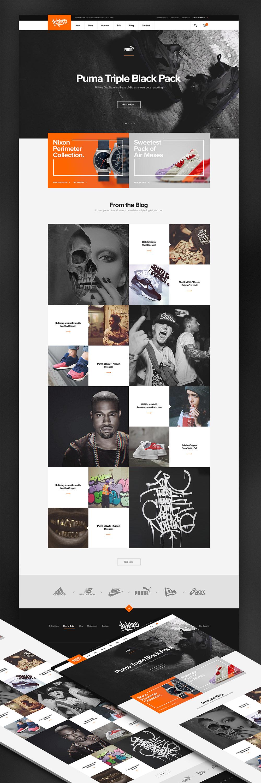 Online Sneaker Wear Shop Ecommerce Website Template Free Psd Psd
