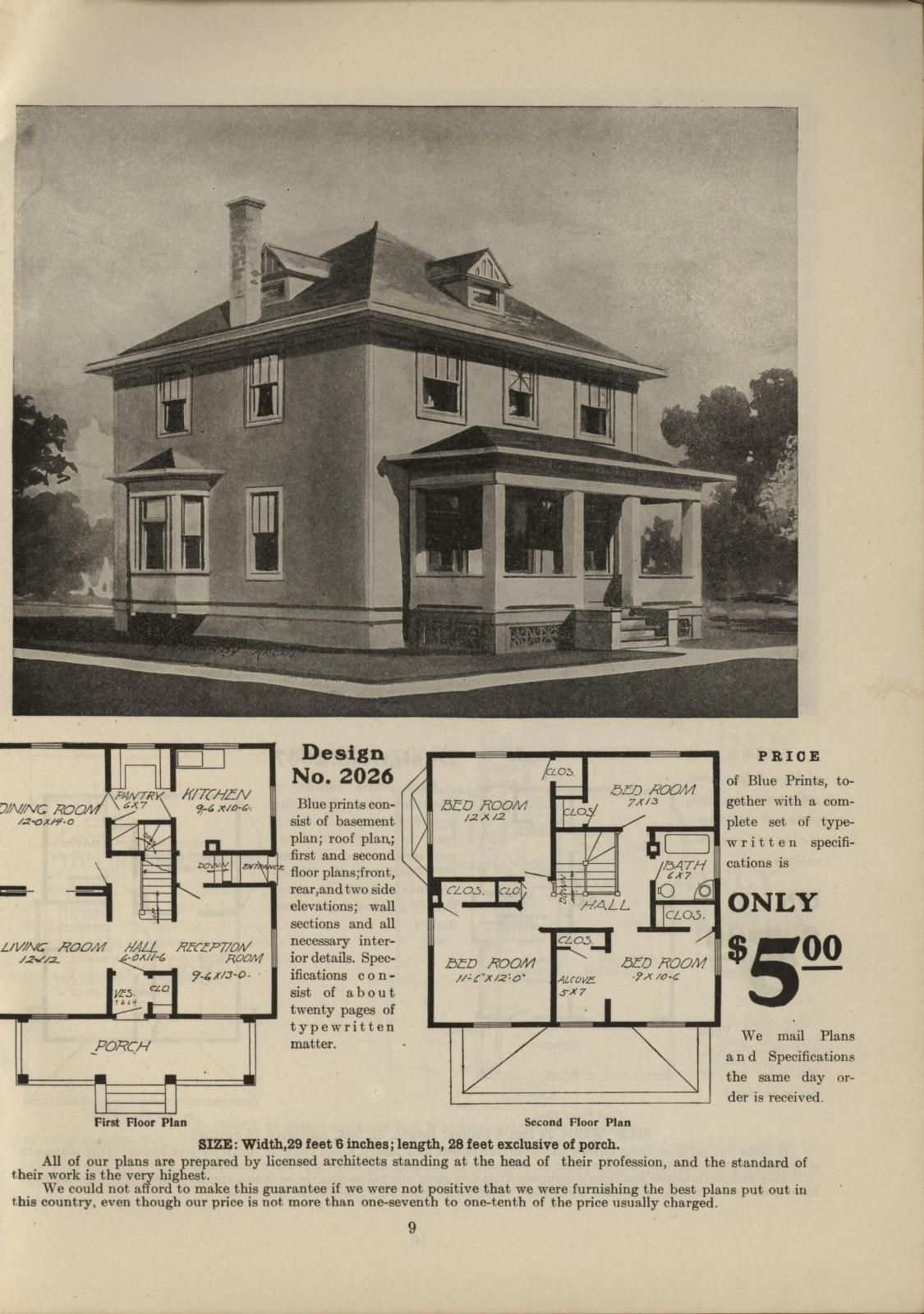 Vintage house plans · Radford Home Builder, volume II