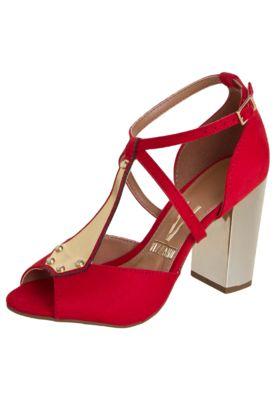 a96b50693b Sandália Vizzano Salomé Salto Metalizado Vermelha - Compre Agora ...