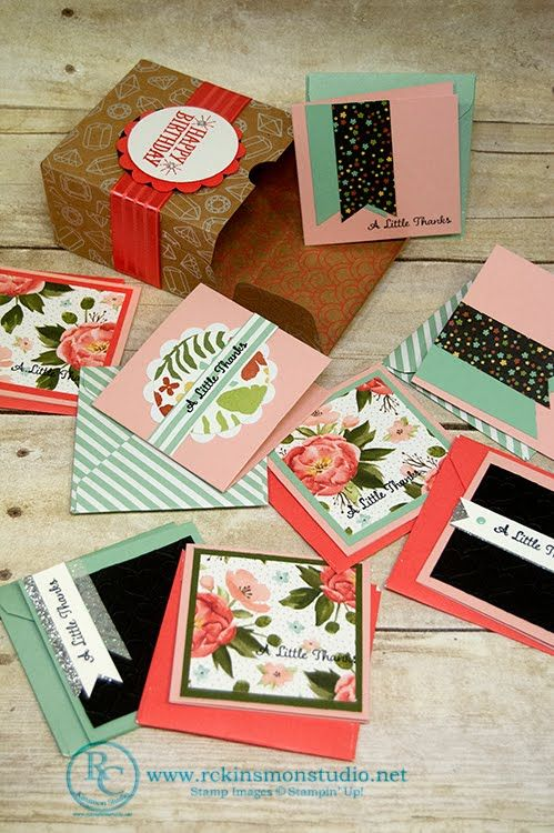 How to make 3x3 Cards and Envelopes for the Shine on Gift Box