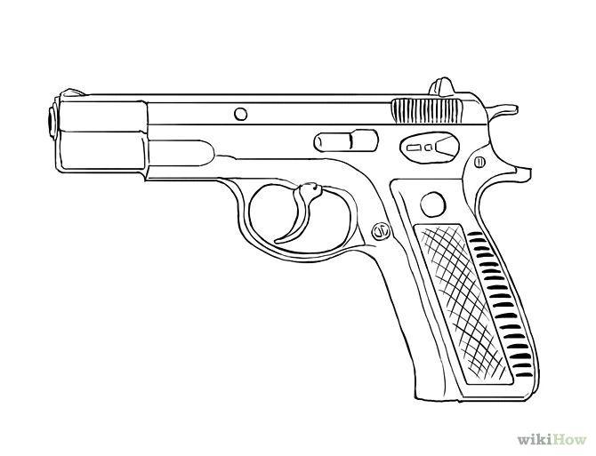 Arme dessin recherche google tatouage tatouage et dessin - Pistolet a colorier ...