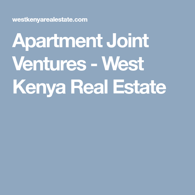 Apartment Joint Ventures With Images Joint Venture Joint How To Buy Land