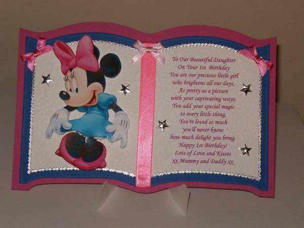 1st Birthday Card For Daughter Grandaughter Personalised