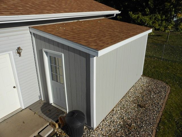Unattached lean to garden shed album and gardens for Lean to shed attached to house