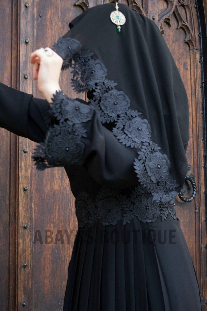 Lace umbrella abaya  Vintage Floral Empress Lace Abayas The vintage floral Empress Lace