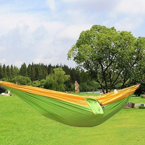 Portable Parachute Nylon Fabric Two Persons Hammock Hanging Sleeping Bed Parachute Nylon Fabric Outdoor Camping Hammocks Sports & Entertainment