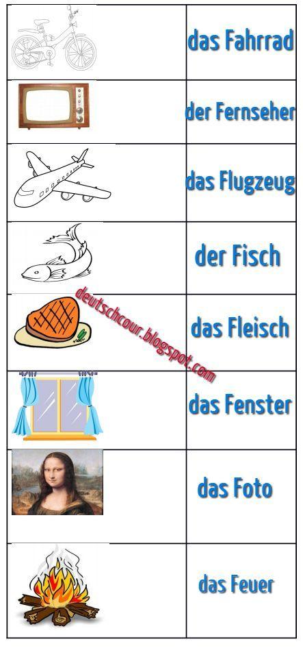 Deutsch lernen Die wichtigsten deutschen Wörter (mit F