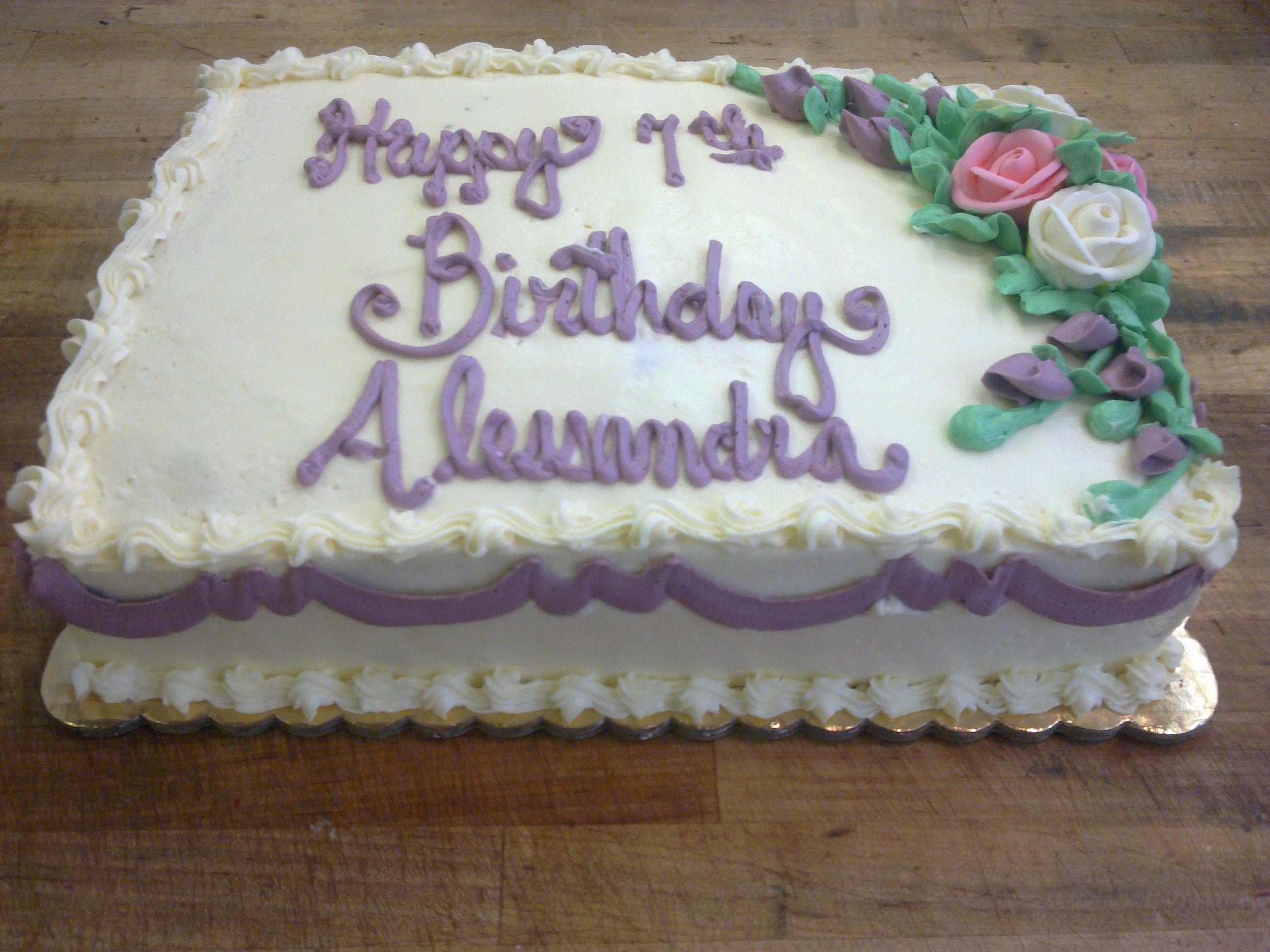 Quarter Sheet Birthday Cake Baked By Dawn Pinterest Birthday