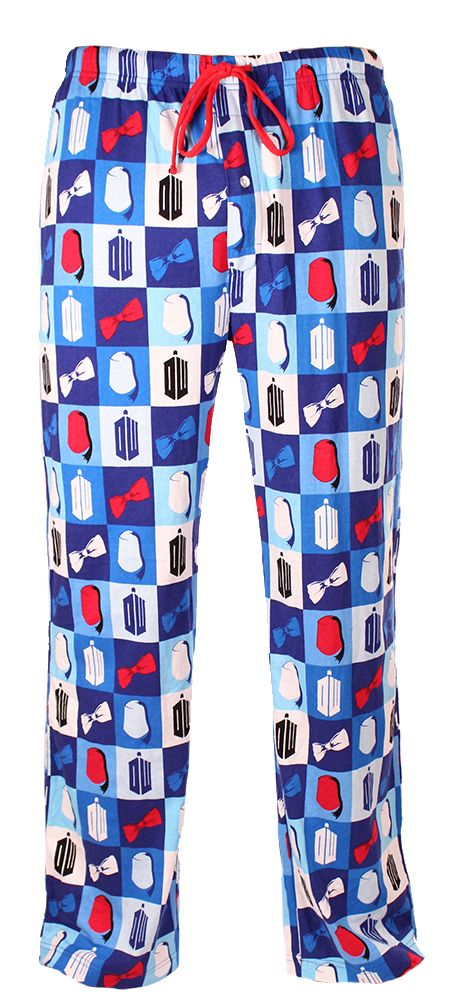 Doctor Who: Fez/Bow Tie Square Lounge Pants. MUST HAVE
