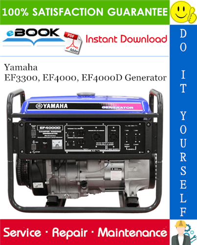 Yamaha Ef3300 Ef4000 Ef4000d Generator Service Repair Manual Repair Manuals Repair Yamaha