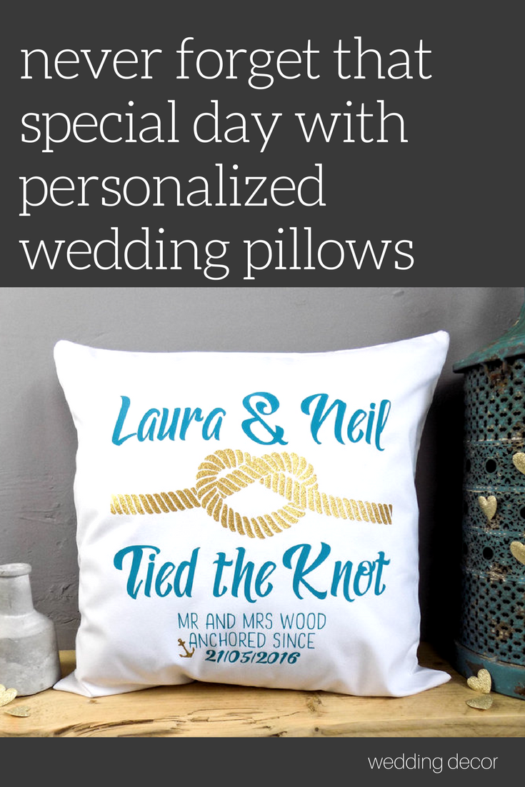 Personalized wedding pillows make amazing gifts for the bride and