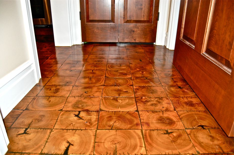 What Is End Grain Flooring Custom Wood Flooring Cochran S Lumber End Grain Comes From The Ends Of Wood Like End Grain Flooring Flooring Basement Remodeling