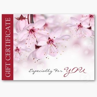 Beauty Salon Spring Flowers Gift Certificate Business Card ...