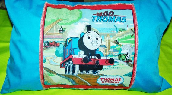 Thomas The Train Pillowcase Beauteous Thomas The Train Travel Pillowcaseanmarikedecorplus On Etsy Decorating Design