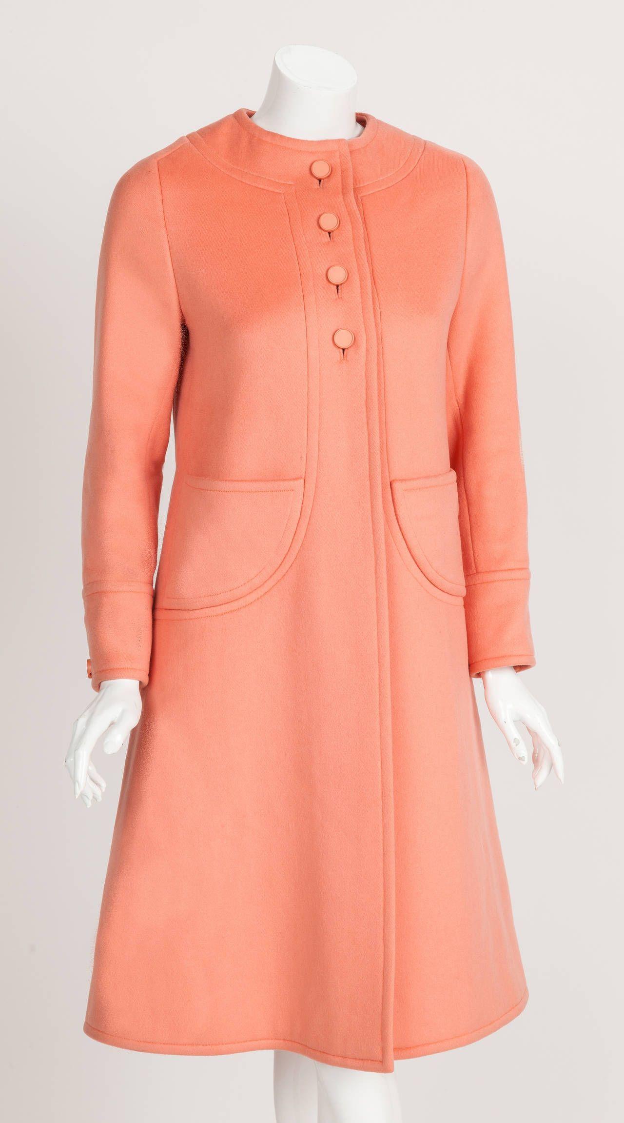 Philippe Venet Haute Couture Melton Wool Coat ca. 1970 image 2