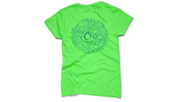 Lime Wave Rider Short Sleeve Shirt.