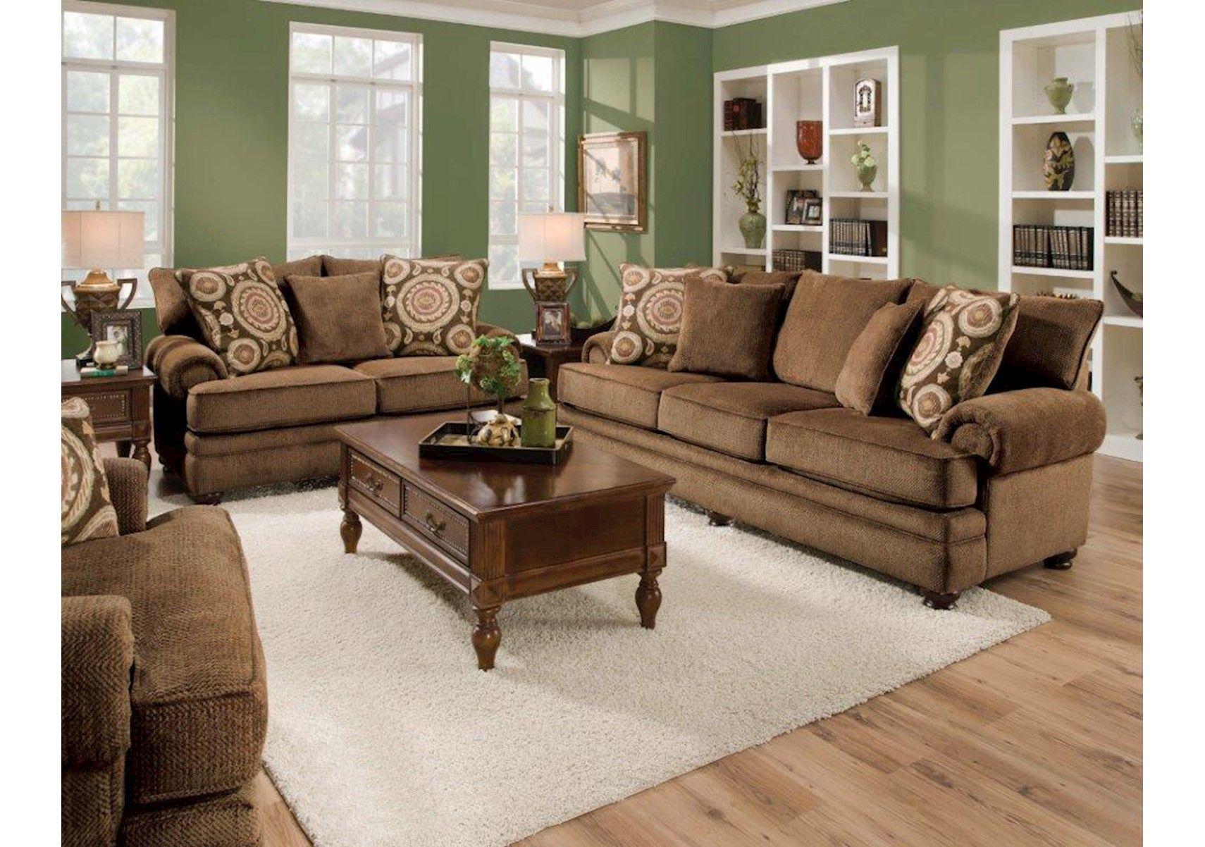 Lacks | Twill Chocolate 2 Pc Living Room Set
