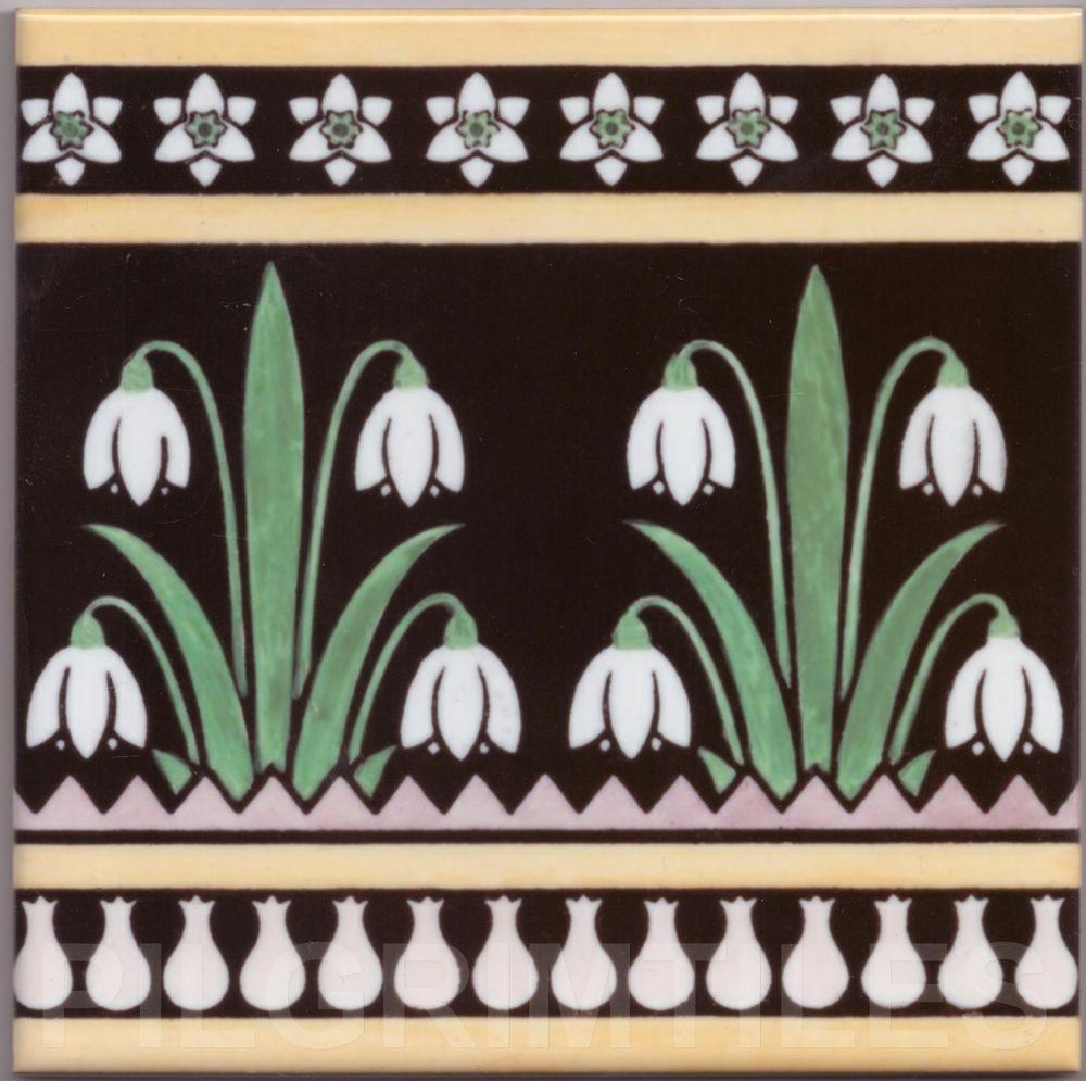 Metric Porcelain Tile Arts & Crafts Snowdrops Walls Floors