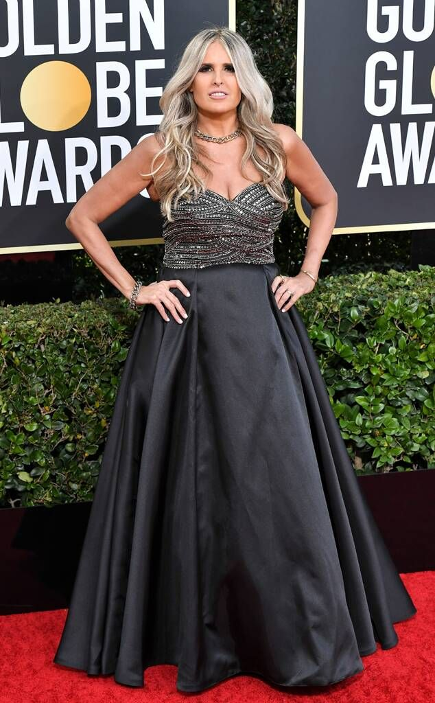 Tiziana Rocca from Golden Globes 2020 Red Carpet Fashion