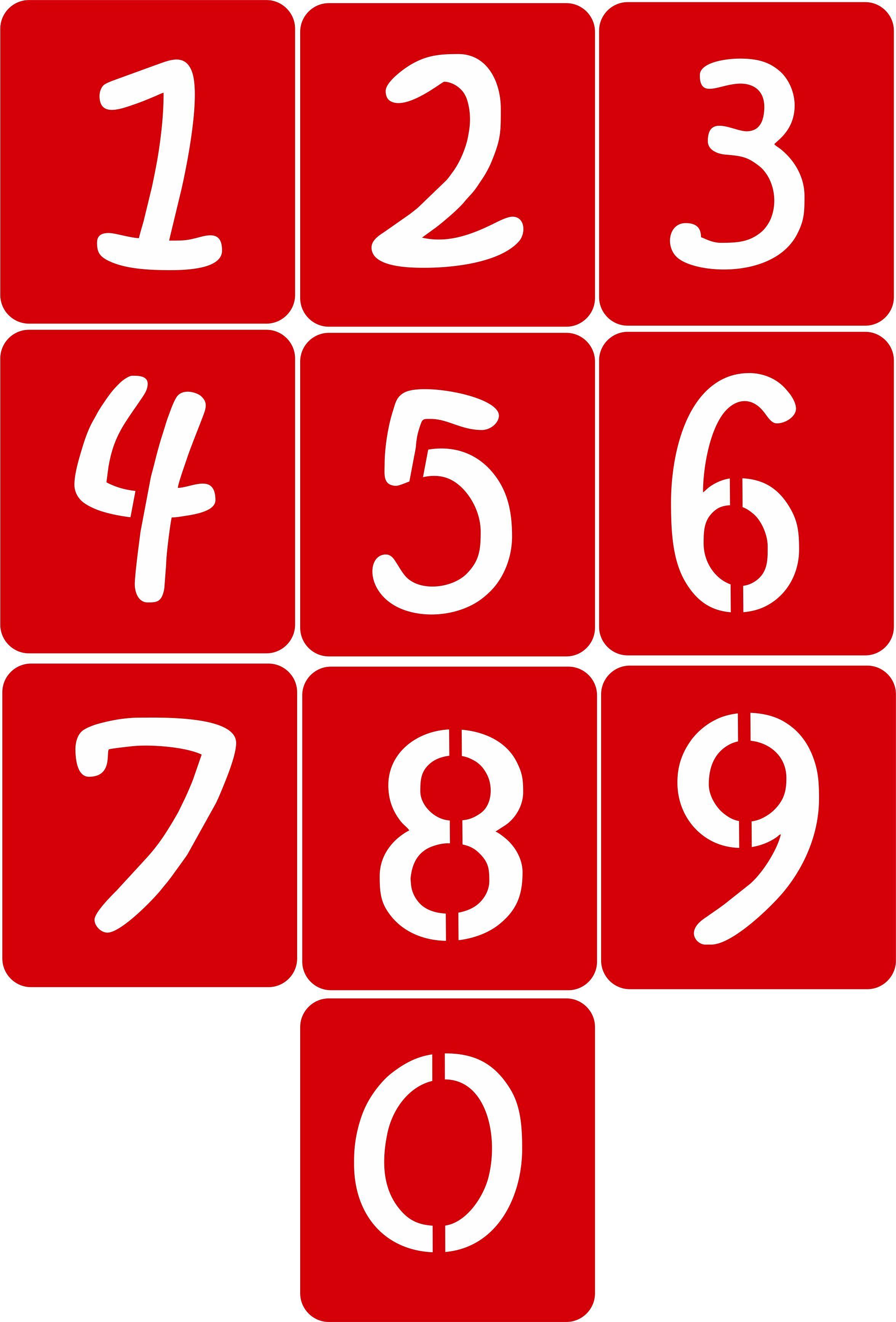 CODE A104. NAME Alphabet Stencils (Kristen ITC Font