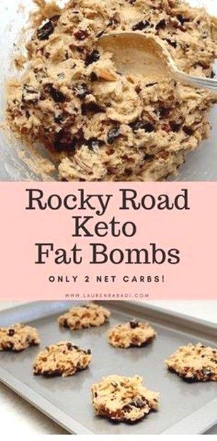 Rocky Road Keto Fat Bombs | Keto Diet Meal Plan #ketorecipesforbeginners This Ro…