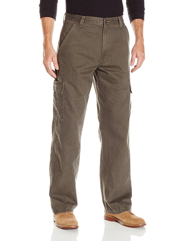 427cb8ef Wrangler Authentics Mens Classic Cargo Twill Pant at Amazon Men's Clothing  store:
