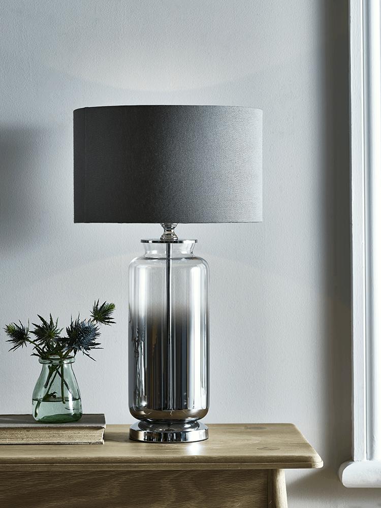 Grey Smoked Glass Table Lamp Glass Table Lamp Table Lamps Uk Ceramic Table Lamps