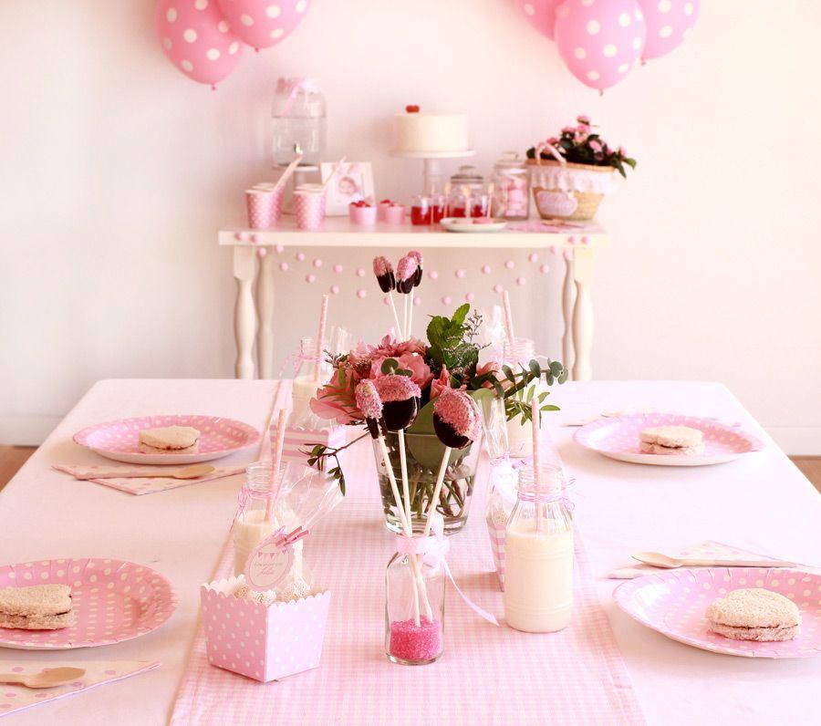 Decoraci n para una fiesta infantil para ni as en tonos rosa fiestas infantiles para ni as - Decoracion infantil nina ...