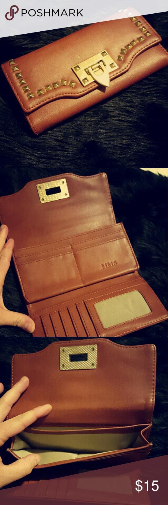 Studded tan wallet Spacious wallet mms Bags Wallets