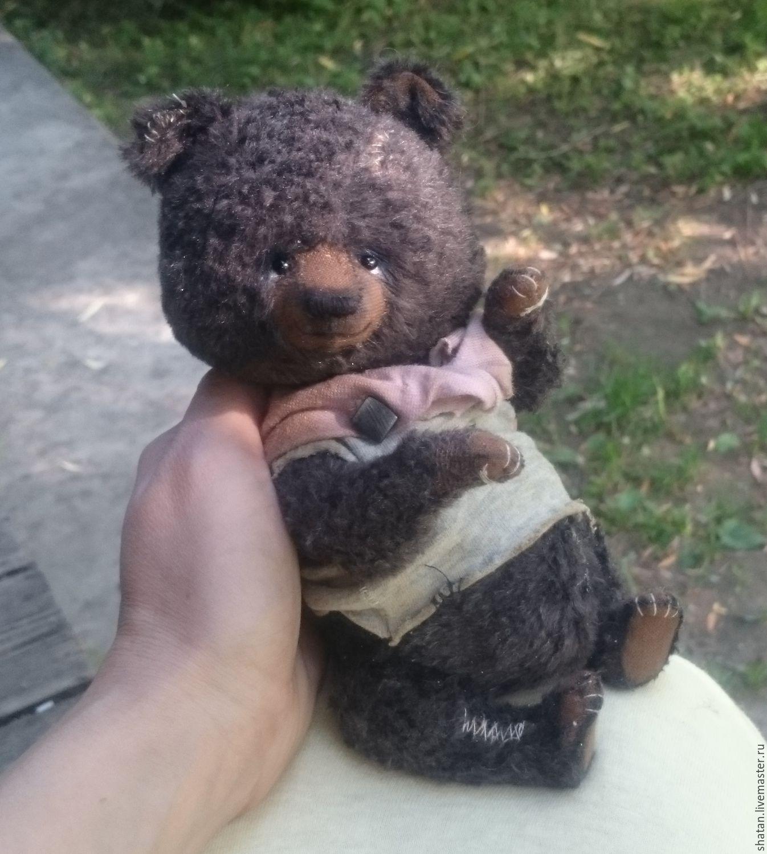 Купить мишка тедди Кузьма - мишка ручной работы, мишка тедди, подарок девушке