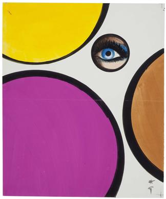 RENE GRUAU (1909-20040. The eye, 1970