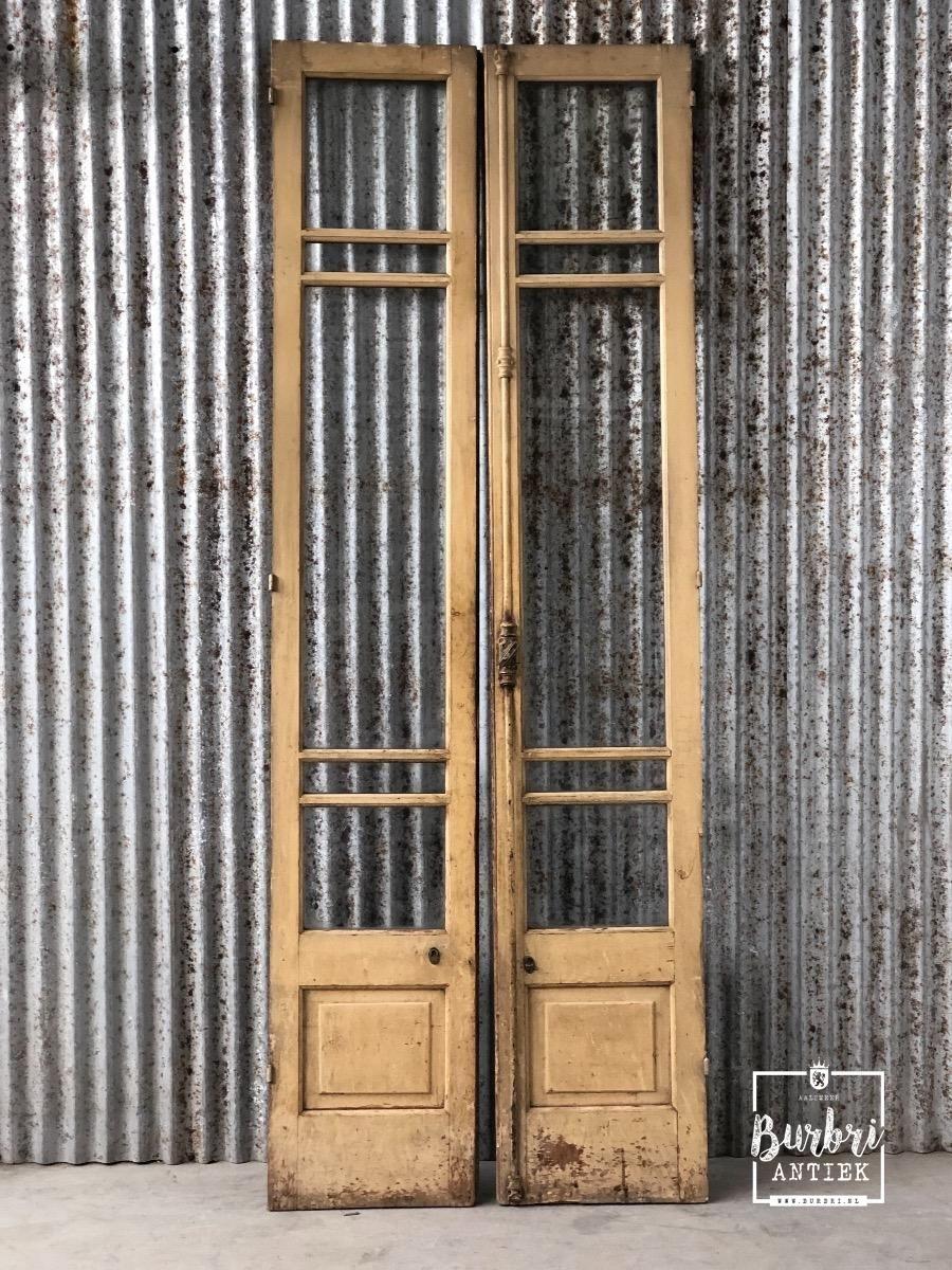 Antique Glass Doors Antieke Set Deuren Met Glas Oude