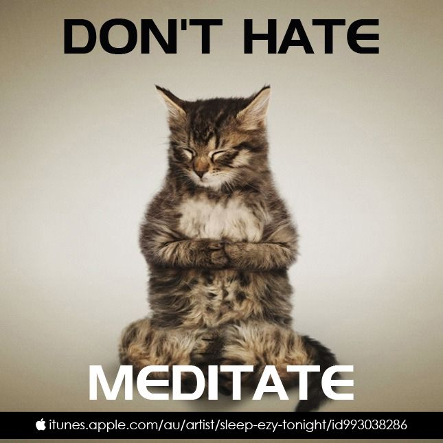 Don't Hate... Meditate!