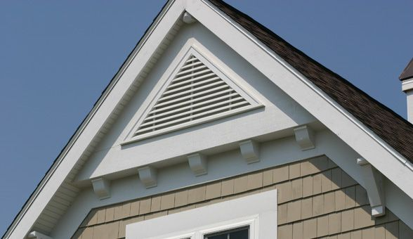 Gable Louver Vents 120 Triangle Louver Vent 4 12 Pitch Gable Vent Gable Vents Beach Cottage Exterior Lake Houses Exterior