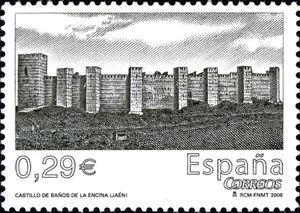 Castle of ba os de la encina ja n sellos castillos espa a pinterest stamps - Banos de la encina espana ...