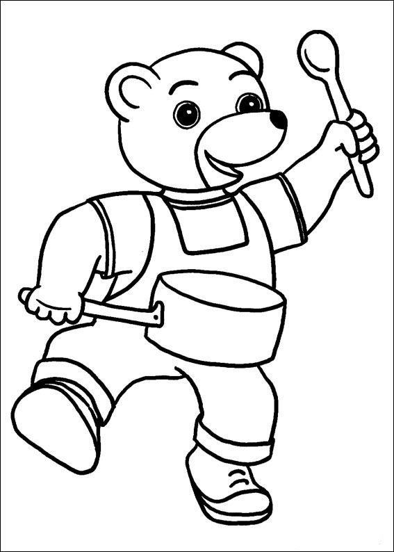 Little Brown Bear Coloring Pages 3 | Coloring pages for kids | Pinterest