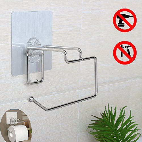 Self Adhesive Wall Mounted Toilet Paper Tissue Holder Storage Bathtroom Kitchen Toilet Paper Ro Tissue Paper Holder Diy Toilet Paper Holder Toilet Paper Holder