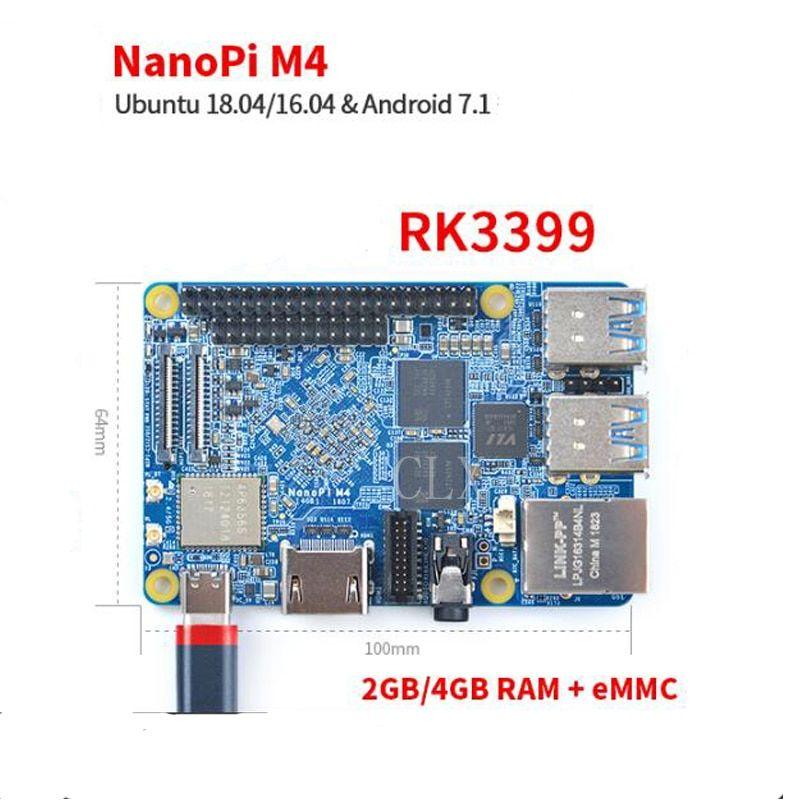NanoPi M4 2GB/4GB DDR3 Rockchip RK3399 SoC 2 4G & 5G dual