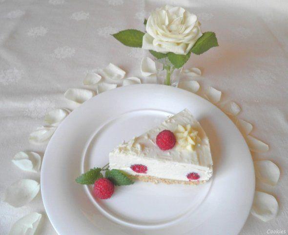 White Chocolat Cheesecake ... with Raspberries ...