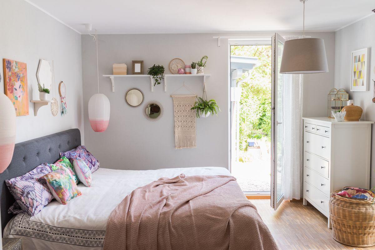 Sommerdeko im Schlafzimmer  Haus deko, Haus wohnzimmer