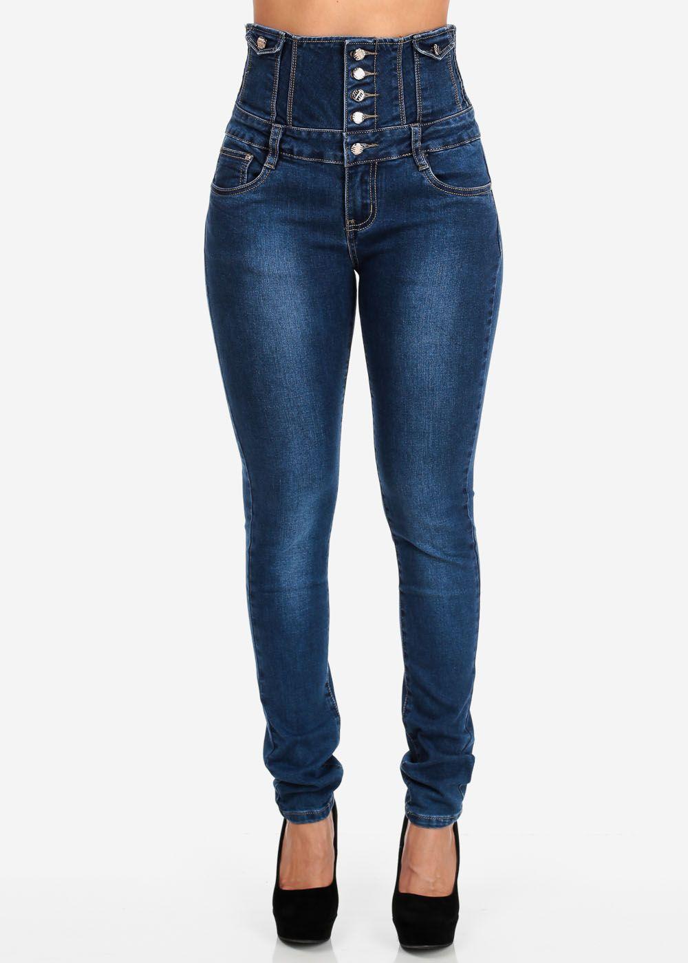 Trendy Jeans-Lindos Pantalones a La Cintura,Blue high ...