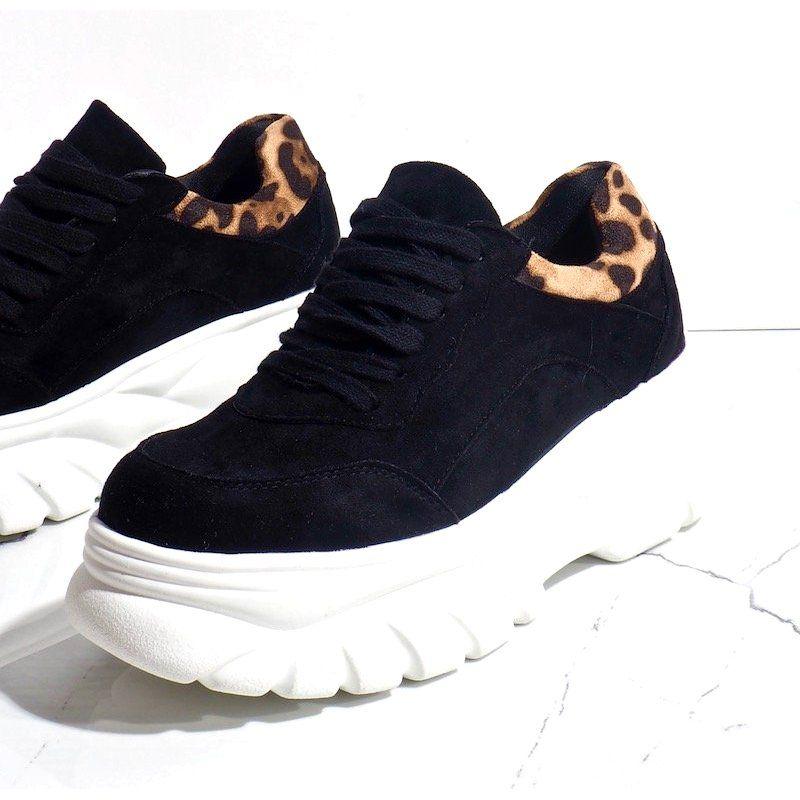 Czarne Sneakersy Sportowe Z Eko Zamszu 7816 Y Adidas Sneakers Adidas Tubular Adidas Tubular Defiant