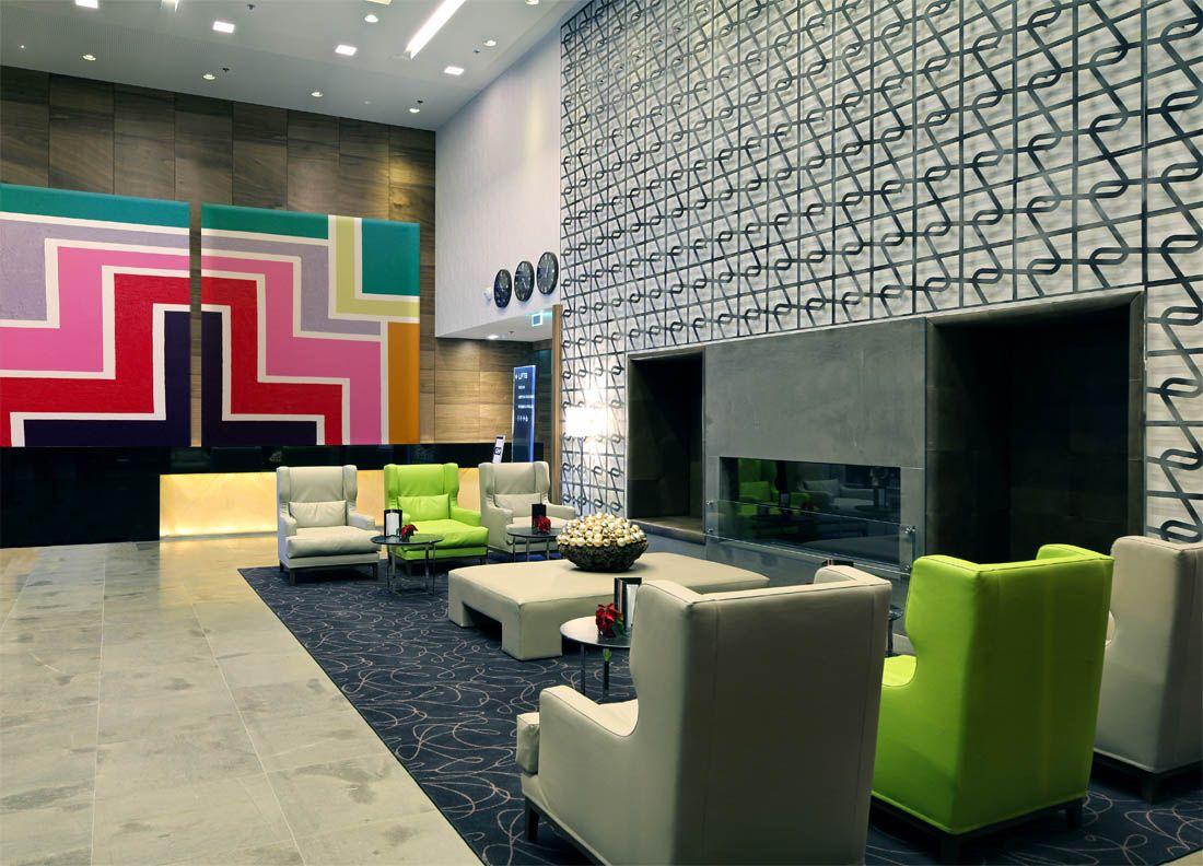 Large geometric art for hotel lobby