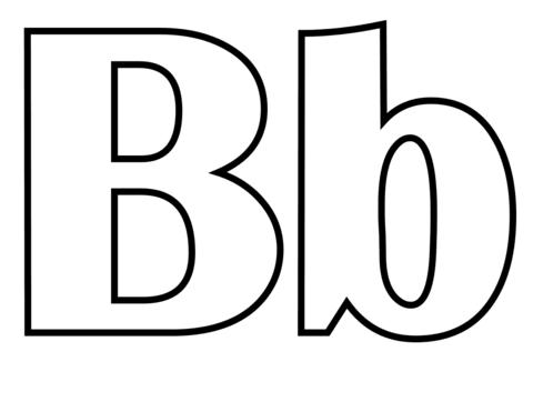 Letra B Dibujo para colorear | baby shower | Pinterest | Letra b ...