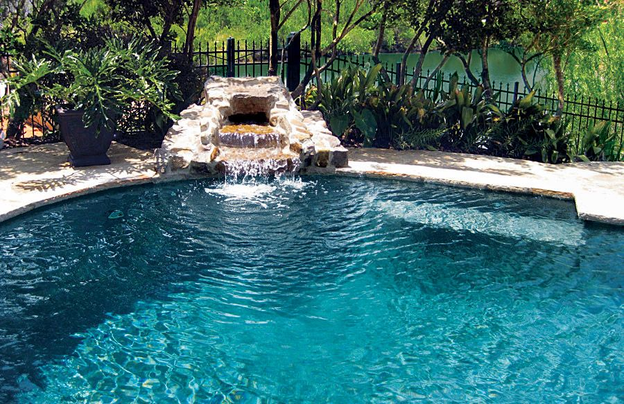 rock waterfalls blue haven custom swimming pool and spa builders - Swimming Pools With Waterfalls