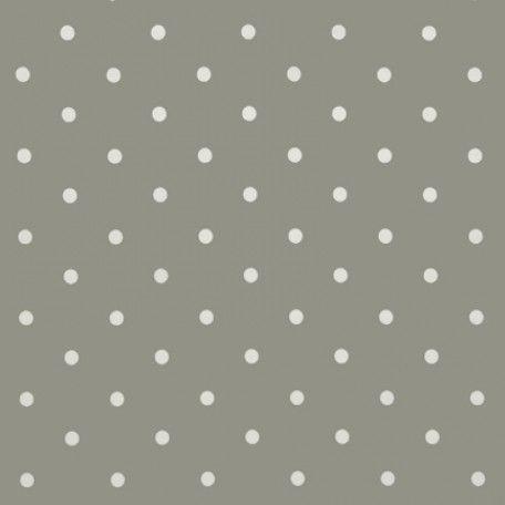 Polka Dot Smokey Grey Oilcloth Tablecloth   Wipe Easy Tablecloths