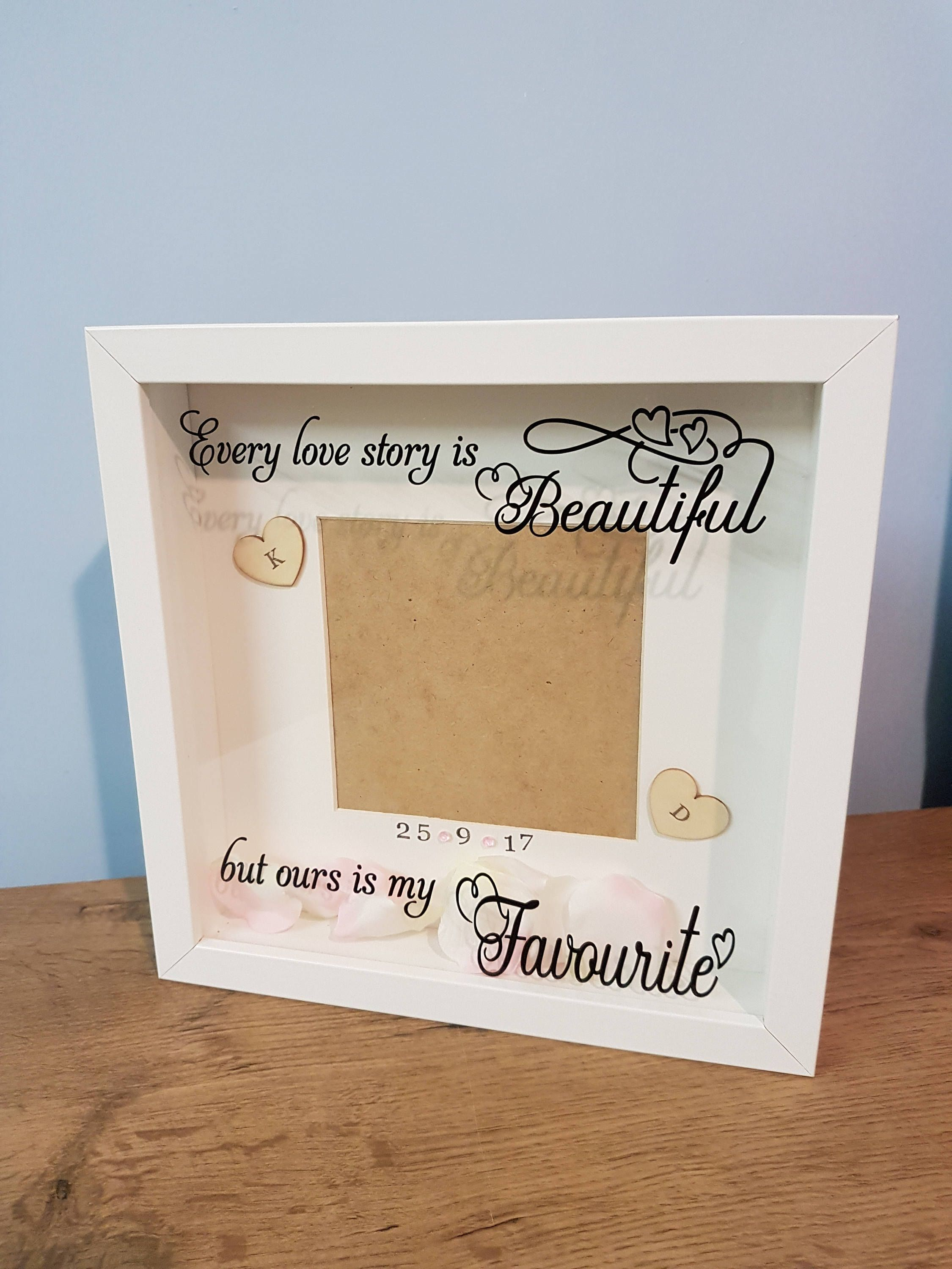 Love Story Frame Engagement Pwesonalised Wedding Anniversary S Gift Memory For